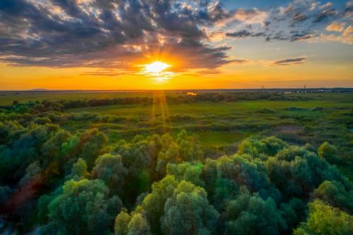 Apus de soare in Delta Dunarii