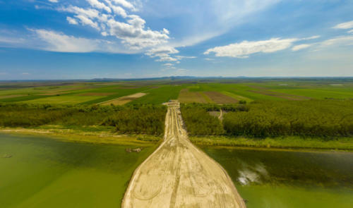 Constructia podului peste Dunare la Braila